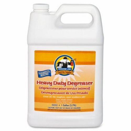 Genuine Joe GJO10353 Super-Concentrated Surface Cleaner/Degreaser, 1 gallon Bottle, White (Case of 2)