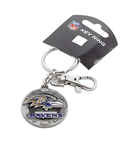 (aminco NFL Baltimore Ravens Imapact Metal Key Ring Clip Keychain)