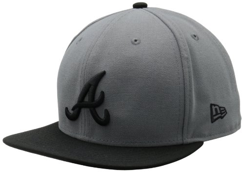 MLB Atlanta Braves MLB Basic Stm/Gry 59Fifty, STORM GRAY/BLACK, 7 (Acrylic Atlanta Braves Baseball)
