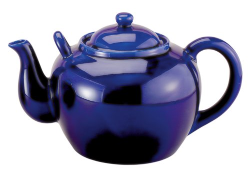 HIC Porcelain 32-ounce Porcelain Teapot with Infuser Cobalt