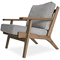 Edloe Finch EF-Z4-LC006 Webster Lounge Chair, gray