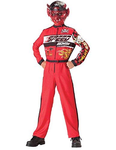 InCharacter Costumes, LLC Boys 8-20 Speed Demon Jumpsuit, Red, -