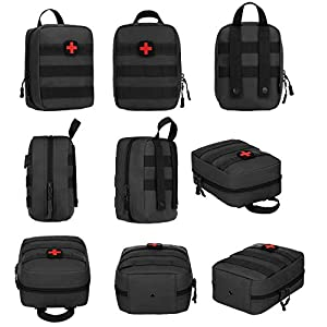 Selighting Mini Tactical Bag MOLLE System First Aid Kit Bag IFAK Medical Utility Pouch for Home Workplace Camping Travel Black