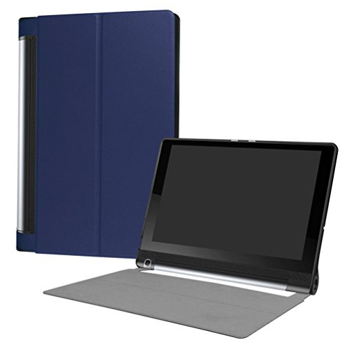 GBSELL Ultra Slim Leather Case Stand Cover for Lenovo Yoga Tab3 Plus 10.1inch (Dark Blue)