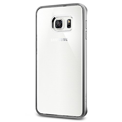 Spigen Neo Hybrid Crystal Galaxy S6 Edge Plus Case with Flexible Inner Casing and Reinforced Hard Bumper Frame for Galaxy S6 Edge Plus 2015 - Satin Silver