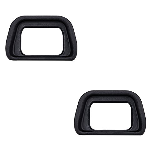 (2-Pack) JJC Eyepiece/Eyecup / Eye Cup Viewfinder for Sony Alpha A6300/A6000/NEX-6/NEX-7 Cameras and FDA-EV2S Electronic viewfinder, Replaces Sony FDA-EP10 Eyepiece - Viewfinder Eyepiece