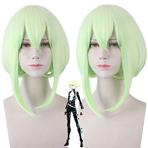 PROMARE cosplay wig Mad Burnish Lio Fotia wigs 35cm Gradient Short Straight mixed Synthetic Hair Lio Fotia Cosplay wig + Wig Cap Lio Fotia Lio Fotia wig PL-402