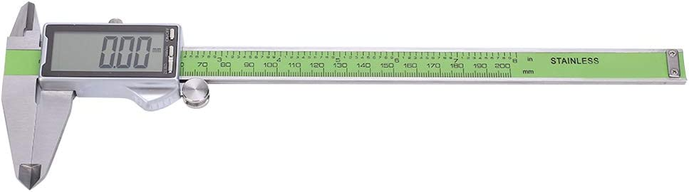Nannday Stainless Steel High Strength Calipers, Electronic Ruler Gauge, for DIY Measurement Industry Measurement(300mm) 200mm