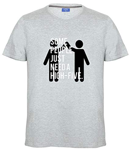 Ruffty Graphic Tees- Some People Just Need a High Five - in The Face with a Chair - Unisex Cotton T Shirt (Casablanca Chair)