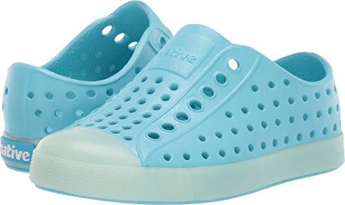 Native Kids Shoes Unisex Jefferson Glow (Toddler/Little Kid) Hamachi Blue/Glow 7 M US Toddler -