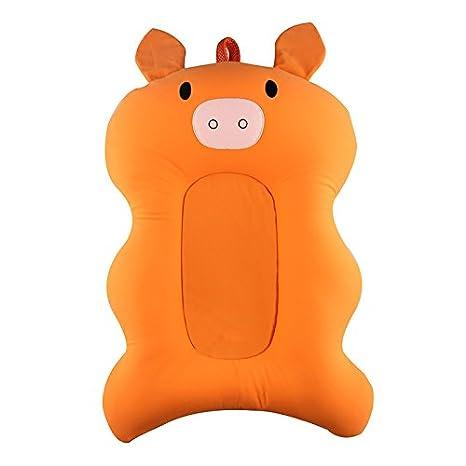 Lulalula - Cojín de baño para bebé recién nacido, cómodo, asiento de baño, asiento de dibujos animados, suave, antideslizante, para bañera, bañera, ...