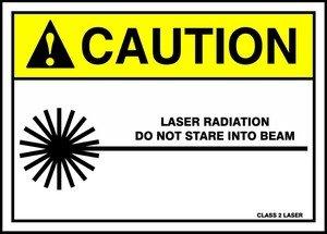 Accuform Laser Radiation DO NOT Stare INTO Beam Class 2 Laser (W/Graphic) (MRAD662VA)
