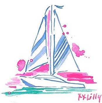 MR3Graphics Magnet Lilly Pulitzer Sailboat Preppy Magnetic Car Sticker Decal Bumper Magnet Vinyl 5