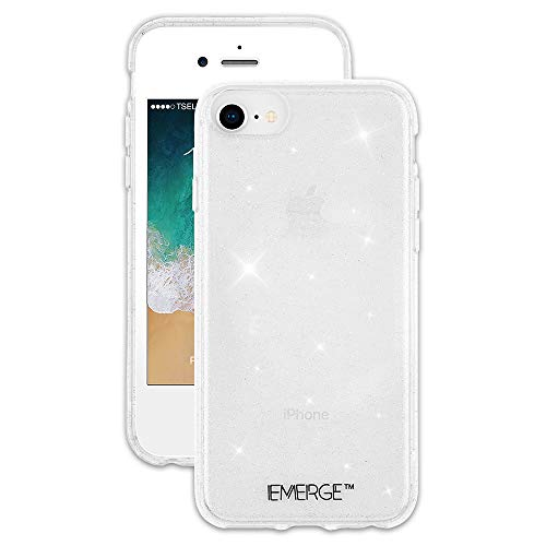 EMERGE - iPhone 8 Glitter Case / iPhone 7 Glitter Case - SHIMMER - Sparkle Effect - Clear