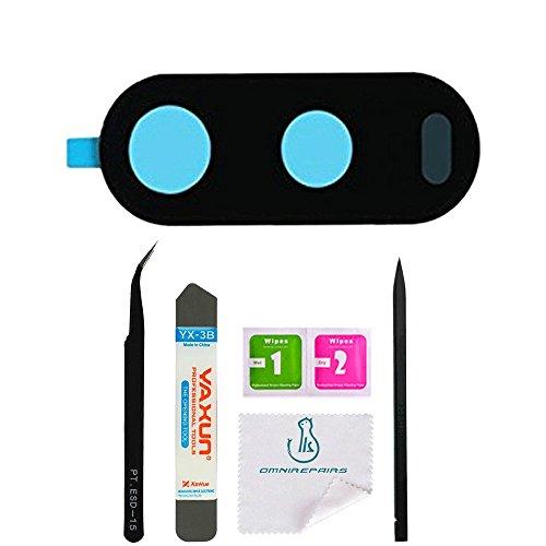OmniRepairs-Rear Facing Glass Camera Lens Frame Assembly Replacement For Motorola Moto G4 XT1620 XT1621 XT1622 XT1624 XT1625 XT1626 with Adhesive and Repair Toolkit (Moto G4)