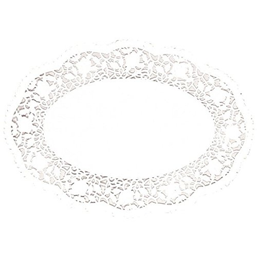 """White Oval Doilies   10.25"""" x 14""""   Party Supply"""