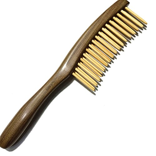 Double Comb - Fitlyiee Double Rows Teeth Sandalwood Hair Comb Anti-Static Handmade Wide Tooth Wooden Comb
