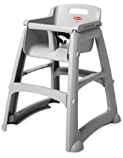 Rubbermaid Commercial Platinum Sturdy Chair Youth Seat without Wheels, 23.5-Inch Length, 23.5-Inch Width, 29.75-Inch Height (FG781408PLAT)