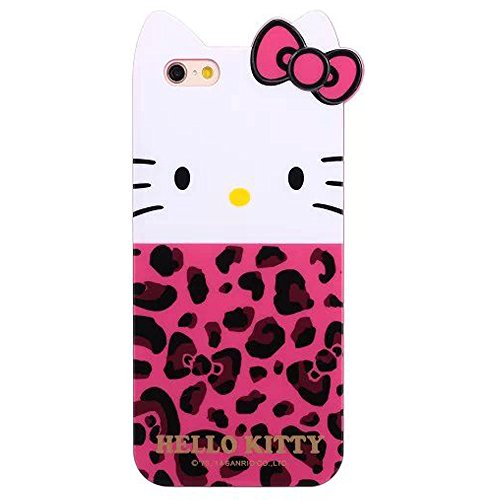"""TFS Iphone 6 4.7"""" Case. Iphone 6 cover. Cute Hello kitty Cat Ears 3D Bow Soft TPU Hybrid Case Cover Skin for Apple Iphone 6 4.7inch (006)"""