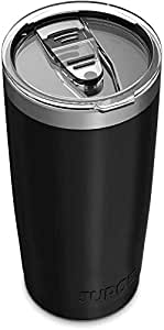 JURO Tumbler 20 oz Stainless Steel Vacuum Insulated Tumbler with Lids and Straw [Travel Mug] Double Wall Water Coffee Cup for Home, Office, Outdoor Works Great for Ice Drinks and Hot Beverage - Black