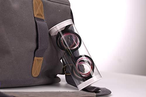 Relieve Glasses Anti-Motion Sickness Anti-Seasickness Liquid Glasses Portable Lensless Eyewear Goggle for Adults Or Kids Travel Plane Car Boat Pregnancy Trip (Black)
