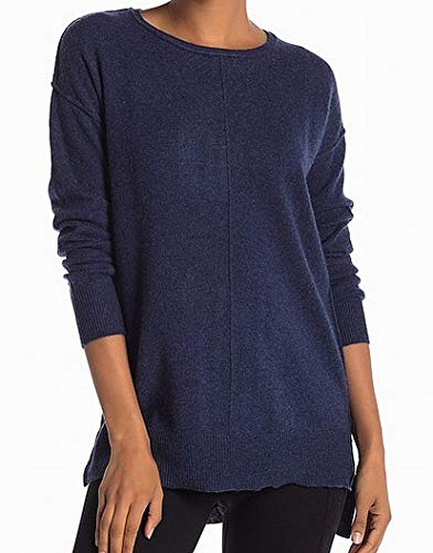 Catherine Malandrino Navy Large Crewneck Cashmere Sweater Blue - Catherine Malandrino Cashmere