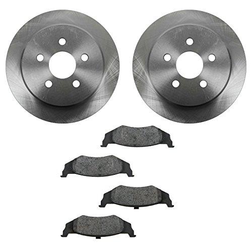 - Brake Pad & Rotor Semi Metallic Rear Kit for Chrysler Dodge Plymouth