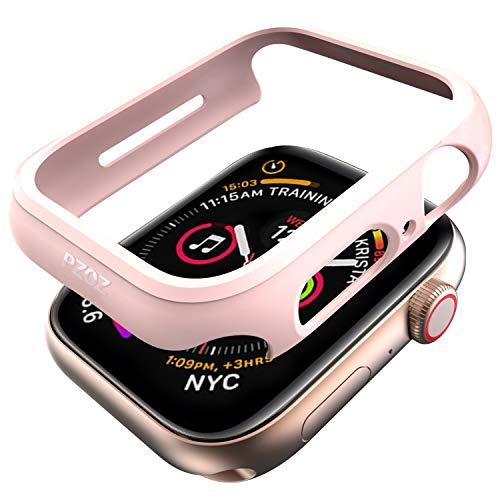pzoz Compatible Apple Watch Series 4 Case 40mm Accessories Slim Guard Edge Protector Bumper Thin Full Coverage Matte Hard Cover for Women Men Compatible Apple iWatch 2018 4th Gen - Pink
