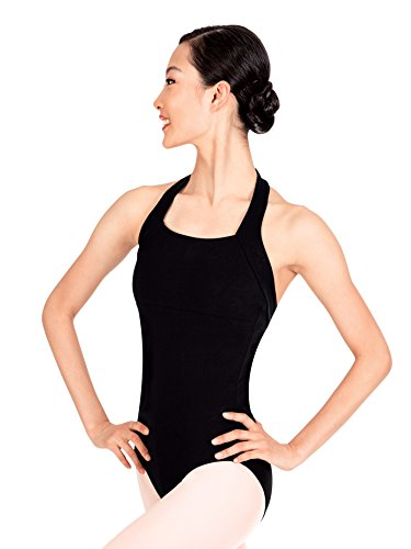 Adult Halter Cotton Dance Leotard TH5508BLKL Black Large