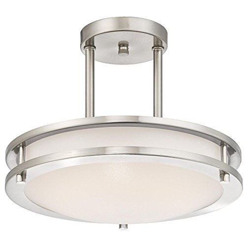 - Westinghouse Lighting 6400900 Dimmable Led Indoor Semi-Flush Mount Ceiling Fixture, 11.88