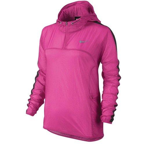 (Nike Women's Transparent Woven Running Jacket, Hot Pink, Small)