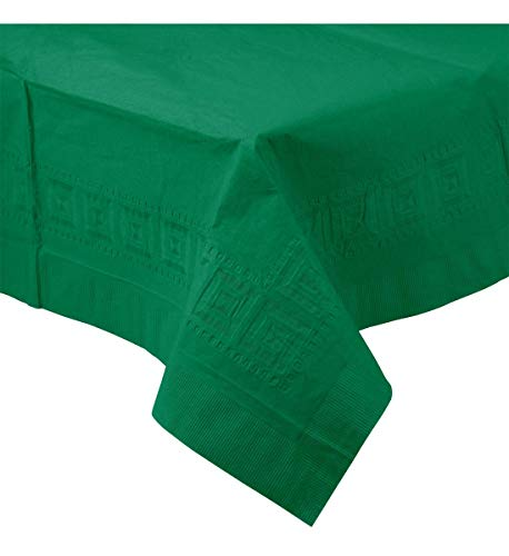 - Creative Converting Touch of Color Plastic Lined Table Cover, 54 by 108-Inch, Emerald Green