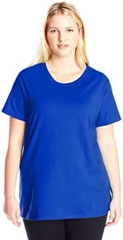 Just My Size Women's Plus-Size Short Sleeve Crew Neck Tee