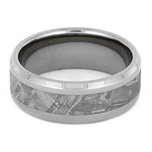 Gibeon Meteorite 8MM Comfort-Fit Titanium Band and Sizing Ring, Size 9 by The Men's Jewelry Store (Unisex Jewelry) (Image #1)