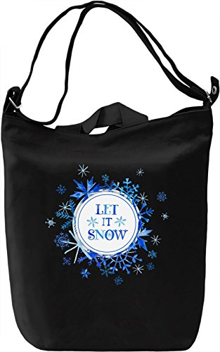 Let it snow Borsa Giornaliera Canvas Canvas Day Bag| 100% Premium Cotton Canvas| DTG Printing|