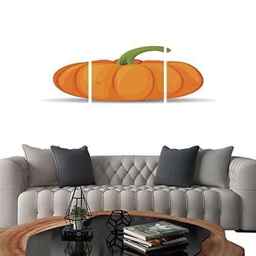 UHOO Prints Wall Art PaintingsPumpkin Isolated on White Pumpkin for Halloween Vector Illustration Customizable Wall Stickers 24