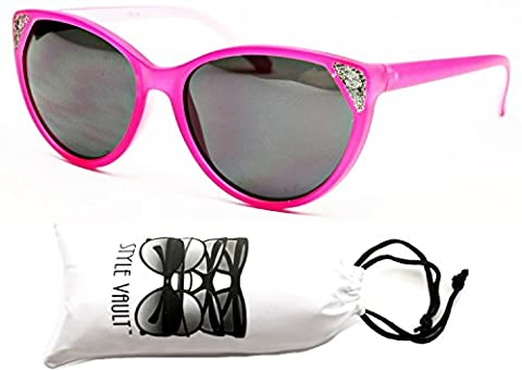 E419-vp Style Vault Unique Style Cateye Sunglasses (E1099G Mt.Orchid Pink, uv400)