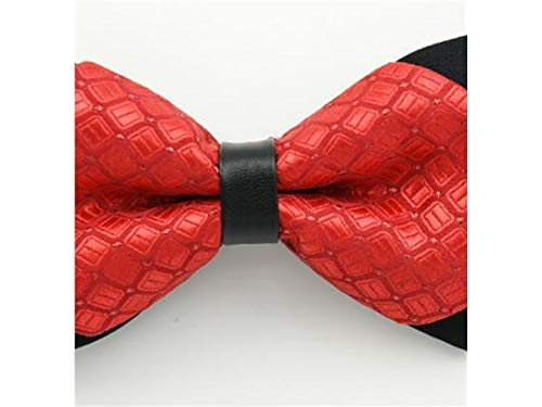 Ties Double Men Bow XDXDWEWERT Adjustable Bowties Style tied Fashion Men Red Pre ZwBtXq