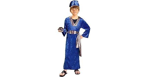 Amazon.com: Biblical Times Wiseman Azul Niño Disfraz, Tamaño ...