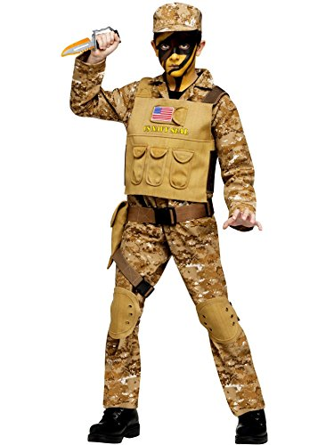 Fun World Navy Seal Boys Costume Medium (8-10) (Best Boy Halloween Costumes)