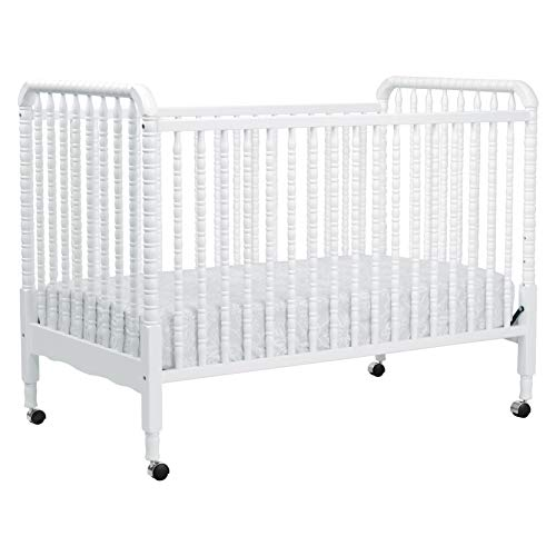 DaVinci Jenny Lind 3-in-1 Convertible Portable Crib in White – 4 Adjustable Mattress Positions, Greenguard Gold