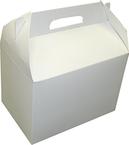 Dixie 10 LbBarn Style Carryout Carton by GP PRO (Georgia-Pacific), White, 10PLN, 6