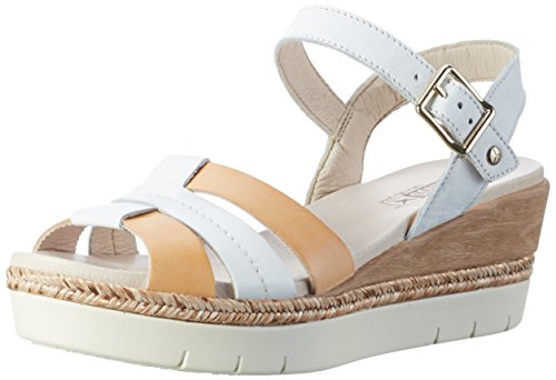 Blanc Ouvert Femme W3g Madeira v17 White Bout Sandales Pikolinos Marron Xwp68xqHv