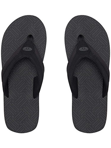 Mens PU Lined Spandex EVA Flop Sandals Flip Grey Nubuck Animal Engraved Asphalt 4EwqdE