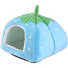 Gracefur Pet Cave Cute Strawberry Shape Dot Pet Nest Soft Removable Self Warming Pet Bed for Dogs & Cats Sky XXL