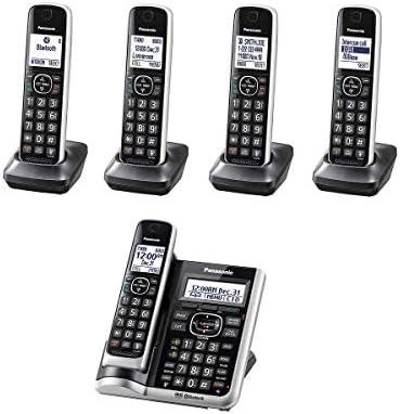Panasonic KX-TG885SK - Teléfono inalámbrico con sistema de contestación, tecnología DECT 6.0 Link2Cell Bluetooth habilitado, identificador de llamadas parlantes (enchapado): Amazon.es: Electrónica
