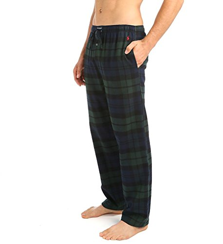 Ralph Lauren Mens Pajamas - Polo Ralph Lauren Flannel Pajama Pants, M, Blackwatch