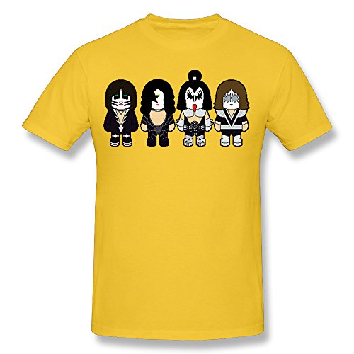 Cozyou Lolli Kiss Men Trendy Tshirt XXL Yellow ()