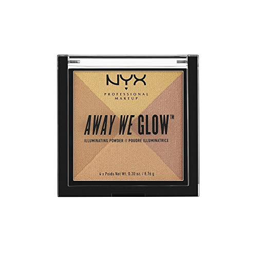 NYX PROFESSIONAL MAKEUP Away We Glow Illuminating Powder, Candlelit, 1.2 Ounce