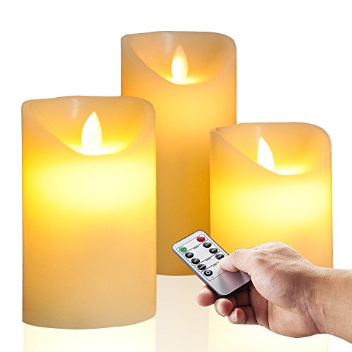 Candle Flameless Unscented Remote Control